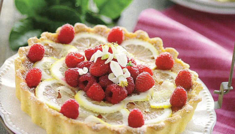Torta s malinama i limunom