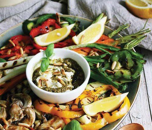Grilovano povrće sa umakom od Brzo & Fino milerama