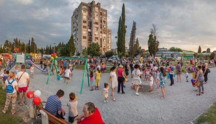 Otvoreno novo igralište za djecu u Podgorici