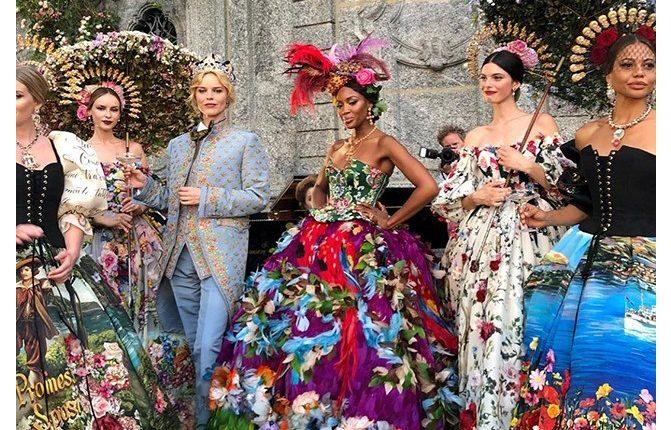 Dolce & Gabbana Alta Moda na jezeru Komo