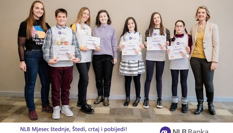 """NLB Banka pobjednicima u nagradnom konkursu za najmlađe """"Štedi, crtaj i pobijedi"""" uručila vrijedne nagrade"""