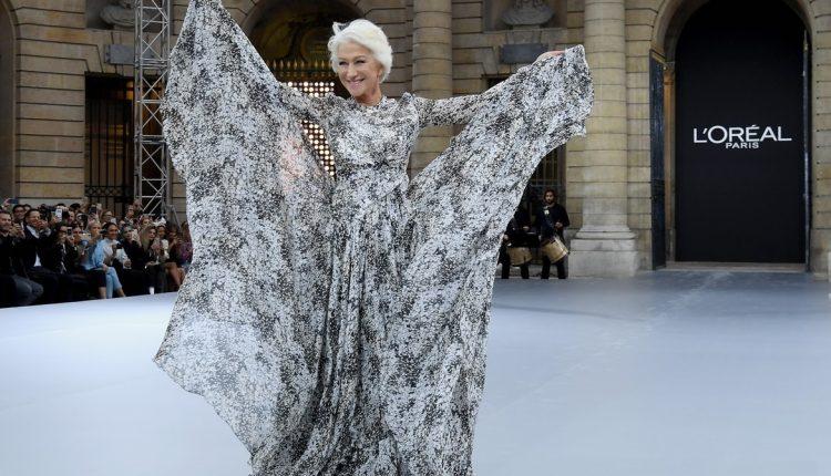 Bosonoga Helen Miren na modnoj pisti