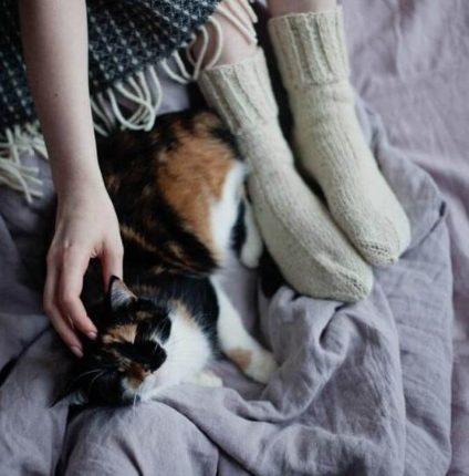 Vunene čarape za spavanje
