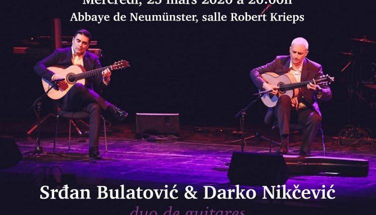 Crnogorski gitarski duo 25. marta u Abbay de Neumunster u Luksemburgu