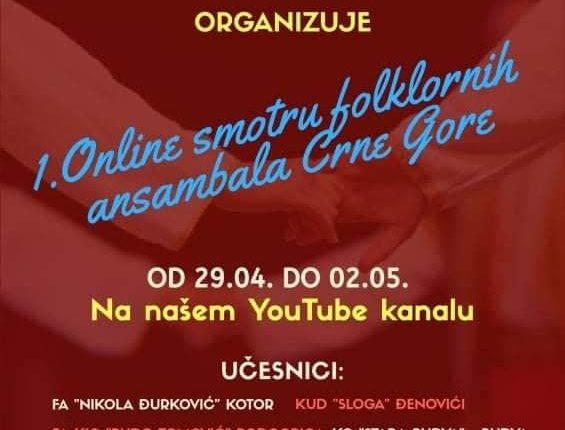 """Folklorni ansambl KIC-a učesnik """"1. Online smotre folklornih ansambala Crne Gore"""""""