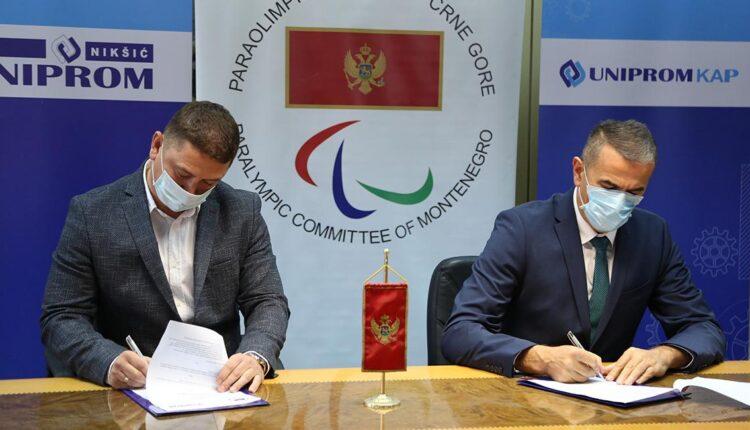 Paraolimpijskom komitetu Crne Gore 15 hiljada eura od kompanije Uniprom