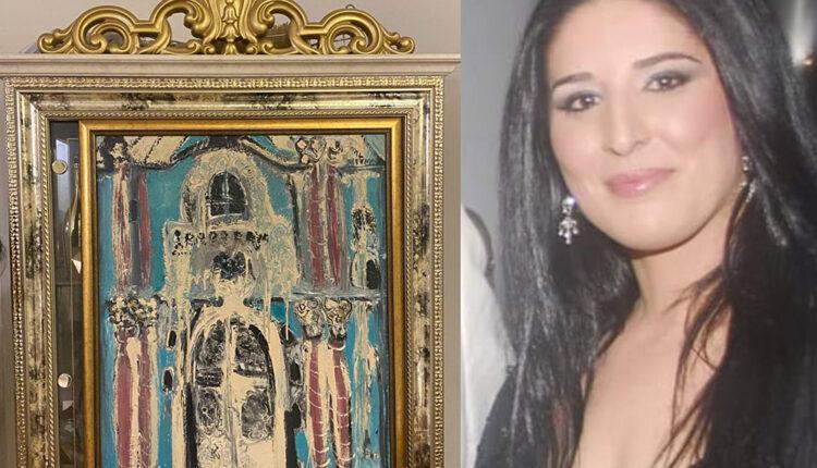 """Akademska slikarka pisala Đukanoviću: Slika """"Plavi dvorac"""", koja je optočena 24-karatnim zlatom, treba da nastavi svoj vijek u rezidenciji"""
