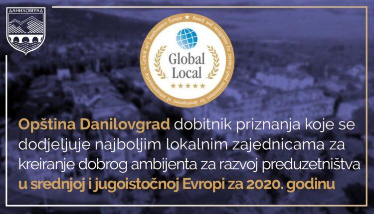 Opština Danilovgrad dobitnik priznanja Globallocal