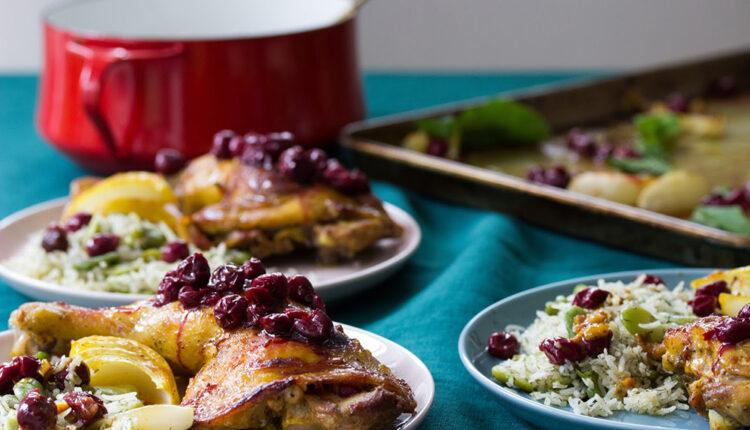 Pečena piletina s trešnjama