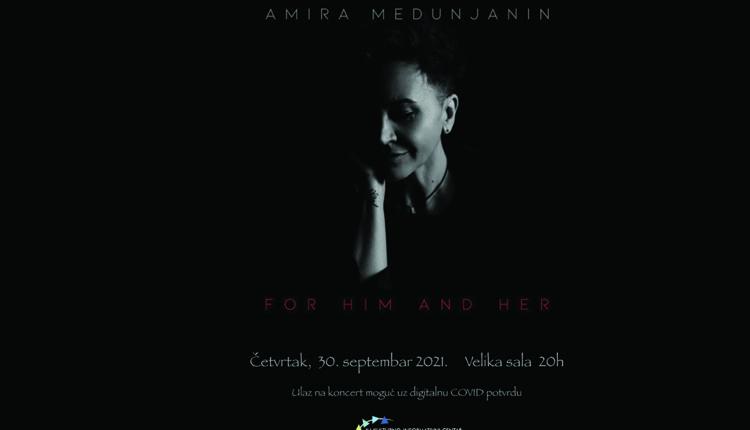 Koncert Amire Medunjanin 30.septembra u KIC-u
